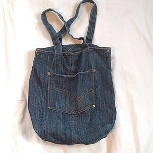 Retro Denim Hobo Messenger Tote Bag